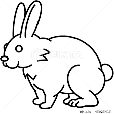 ウサギのイラスト素材 45025415 Pixta