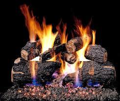 real fyre see thru charred oak vented propane gas logs set with variable flame automatic pilot kit