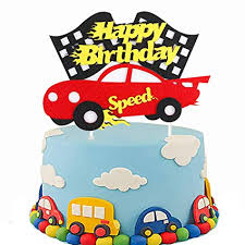 Amazoncom Pantide Birthday Cake Topper Decoration Racing Car