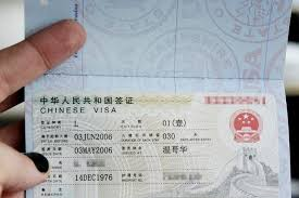 doents required for travel to china