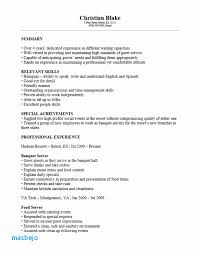 Banquet Server Resume Examples Stunning Banquet Server Resume Examples Resume