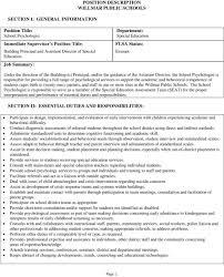 School Psychologist Job Description Magdalene Project Org