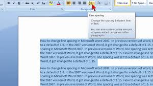 Gallery Of How To Change Line Spacing In Microsoft Word 2007 Youtube