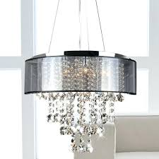 crystal chandelier chrome and translucent black shade 9 light crystal adele crystal small chandelier drum chandelier crystal modern 4 lights