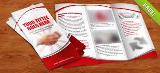 Editable Foldable Templates Tri Fold Brochure Psd Template Free Psd Files