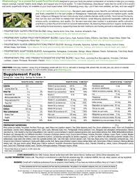 Shakeology Ingredient Chart Vanilla Shakeology Supplement Facts Healthy Meal