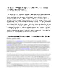s essay the great bull market wall street in the s norton  essay questions docx history ritchie at houston the cause of the great depression whether such a