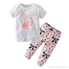 summer spring autumn baby clothes newborn cartoon panda t shirts pants cute baby s clothing sets infant 2pcs set