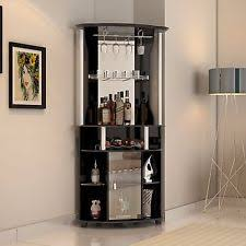 home corner furniture. corner liquor cabinet home pub bar furniture wine bottle storage stemware rack