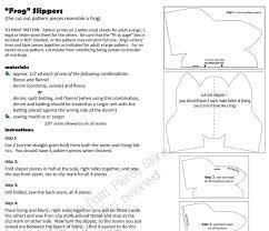 Free Slipper Sewing Patterns and Ideas & Free Frog Slipper Pattern Screen Shot Adamdwight.com
