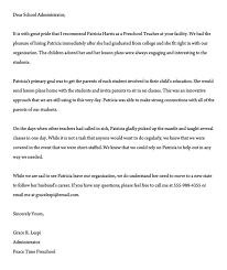 Recommendation Letter For A Teacher 32 Sample Letters