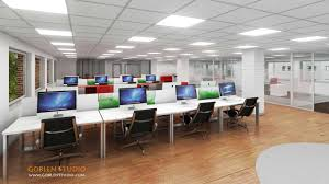 office space interior design. Commercial Office Space 3D Interior Design F