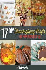 The crafts below are geared towards adults that want to make serious  decorations for their Thanksgiving celebration.