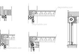 roller shutters dwg cad blocks free
