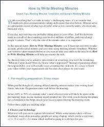 How To Write Meeting Minutes Writing Meeting Minutes Template Jovemaprendiz Club
