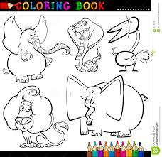 Animales Para El Libro O La Paginaci N De Colorante Ilustraci N
