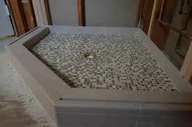 image of prefab shower pan for tile