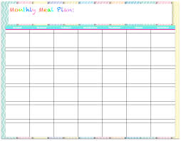 monthly meal planner template free templates monthly menu planners the housewife modern
