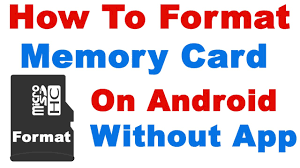 how to format memory card on android without any app format sd card android