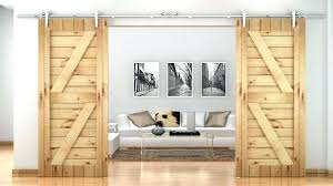 barn sliding door track pole