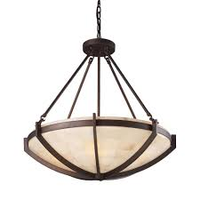 titan lighting spanish mosaic 6 light aged bronze ceiling pendant
