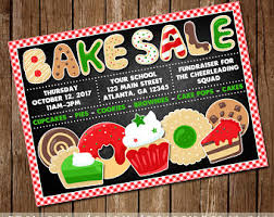 baking sale bake sale flyer etsy