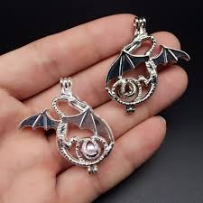 details about bulk of 6pcs train your dragon cage pendant for akoyal pearl lover wish locket