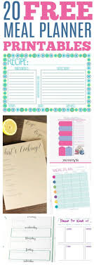 Monthly Meal Planner Printable Free Printable Meal Planner And Grocery Lists