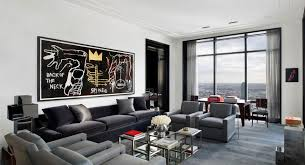 Of Living Rooms With Brown Furniture Fetching Black Comfy Sofa Gray Pattern Rug Glass Coffee Table