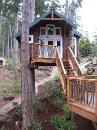 Tree House Plans For Kids Modern Free Standing Simple Easy Treehouse
