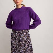 <b>Пуловер</b> с <b>круглым</b> вырезом и напускными рукавами из плотного ...