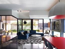 black and white area rugs Living Room Contemporary with black and