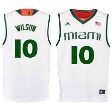 Men 10 Miles Wilson Miami Hurricanes College Basketball