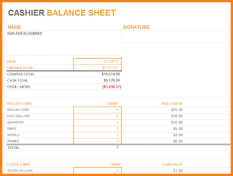 Balance Cash Drawer Cash Drawer Balance Sheet Excel Cash Drawer Count Sheet Template