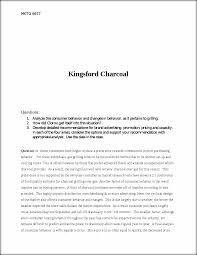 kingsford charcoal mktg 6677 kingsford charcoal questions 1 this preview has intentionally blurred sections sign up to view the full version