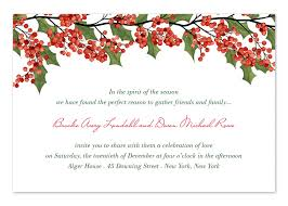 holiday invitations berries and holly holiday invitations by invitation consultants