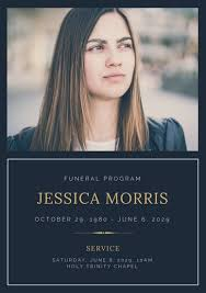 Funeral Templates Free Stunning Customize 48 Funeral Program Templates Online Canva