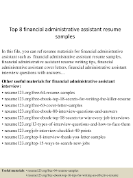 Free Resume Examples For Administrative Assistant top10000financialadministrativeassistantresumesamples10000lva100app61000092thumbnail100jpgcb=10010031001007100333 73