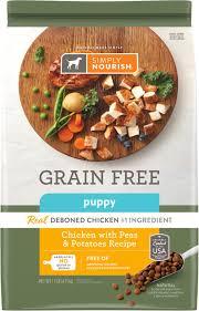 Simply Nourish Grain Free Chicken With Peas Potatoes Recipe Puppy Dry Dog Food 11 Lb Bag
