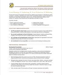 Events Manager Resume Sample Best of Event Planning Resume Rioferdinandsco