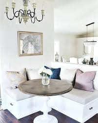 kitchen nook table this very small breakfast has a nice contemporary design the chandelier rounded marble