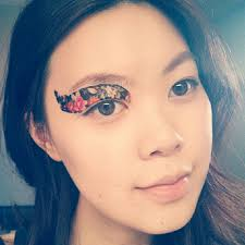 print color on professional transfer quality temporary tattoo eyeshadow leopard makeup face