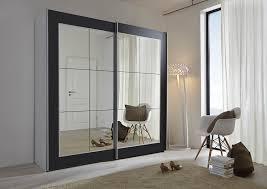 mirror wardrobe. schlafzimmer lattice: black sliding door wardrobe with mirror - 202cm or 301cm wide german made (202cm wide): amazon.co.uk: kitchen \u0026 home