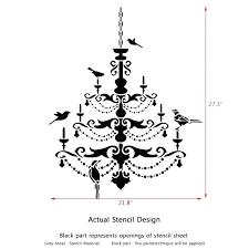 post bird stencil for wall stencils uk fresh chandelier with birds decor painting branch birdcage c