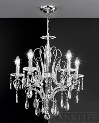 franklite lighting fl2156 5 brocade 5 light chrome crystal ceiling light to enlarge