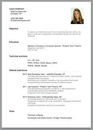 Simple Job Resume Template Best One Job Resume Template Simple Examples Templates For Jobs Fill In