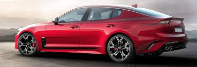 2018 kia images. plain images red kia stinger gt rear side static in 2018 kia images