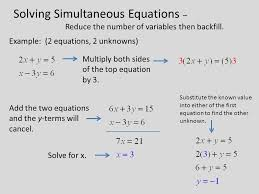 4 solving simultaneous equations