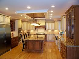 kitchen island beautiful island pendant. Decorations, Ceiling Recessed Lights And Classic Pendant Lamps Over Kitchen Island Butcher Block With Seating Beautiful