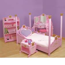 princess bedroom furniture. lovely baby girls bedroom furniture set with cool pink high poster princess bed also sweet mini vanity as well study desk on fake wood floors ideas
